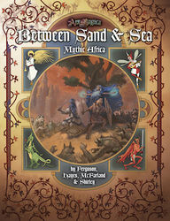 Cover illustration for Between Sand & Sea: Mythic Africa