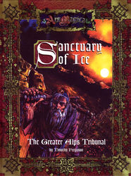 Cover illustration for Sanctuary of Ice: The Greater Alps Tribunal