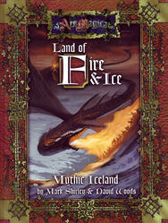 Cover illustration for Land of Fire and Ice: The Sourcebook of Mythic Iceland
