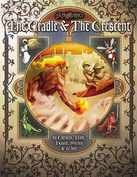 Cover illustration for The Cradle & the Crescent