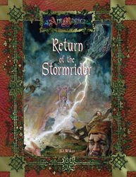 Cover illustration for Return of the Stormrider
