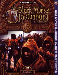 Cover illustration for The Black Monks of Glastonbury
